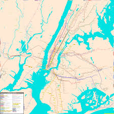 New York City Area Map by New York City Area Real Distance Subway Map