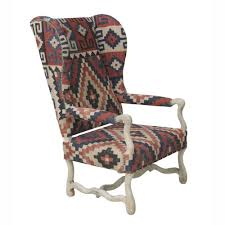 nuloom southwestern aztec dhurrie kilim high back arm chair by