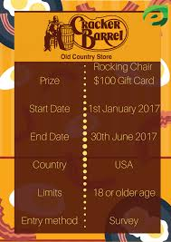 Rocking Chairs Like Cracker Barrel by Enter Cracker Barrel Survey At Www Crackerbarrel Survey Com To Win