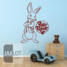 27 peter rabbit wall decals peter rabbit vinyl wall sticker peter rabbit vinyl wall sticker decal ebay