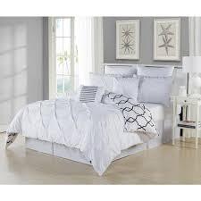 duck river esy pintuck reversible white 8 piece queen comforter