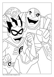 teen titans coloring pages for kids print and color the pictures