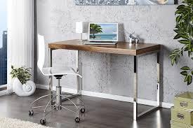 bureau chrome bureau en bois palissandre et chrome shine 120 cm