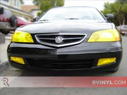rtint acura cl 2001 2003 headlight tint film