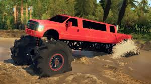 Chevy And Ford Truck Mudding - ford f350 limo megatruck 4x4 mudding hill climbing u0026 off