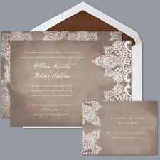 rustic chic wedding invitations boho chic rustic brown announcement cards invitations by david s