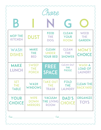 make chores more fun with this free printable chore bingo game