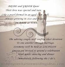 Wedding Invitation Verses Beach Wedding Invitation Wording From Bride And Groom U2013 Mini Bridal