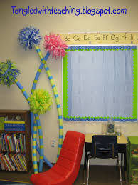 tangled with teaching dr seuss classroom theme day 3 truffula i wanted to create some trees for my classroom this year so when i decided to do a dr seuss theme i thought truffula trees made with pool noodles would be