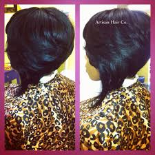 feathered bob full sew in no leave out artisan hair company llc