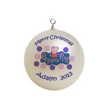 personalized peppa pig christmas ornament custom gift