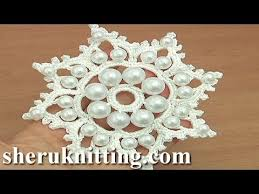 crochet snowflake ornament with tutorial 19