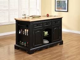magnificent rectangle shape black wooden kitchen island features