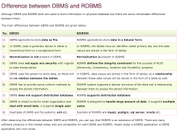 sql compare two tables for differences database what is the difference between dbms and rdbms stack