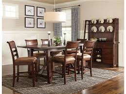 dining room table sets with bench intercon bench creek 5 piece trestle table u0026 upholstered chairs