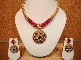 necklace set gold design images Light weight designer gold necklace set from naj south india jewels jpg