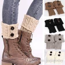 womens size 12 boot socks 1lot winter warm knitted socks leg warmer button crochet