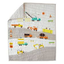 construction baby quilt the land of nod