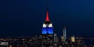 empire state building lights tonight empire state building lights up red white blue to celebrate us