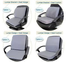 combining lumbar back support and seat cushions