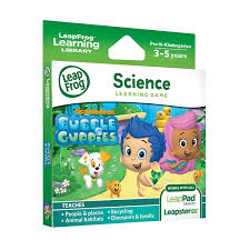 amazon com leapfrog learning game bubble guppies for leappad