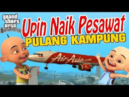 film upin ipin naik pesawat pergi liburan yuk gta lucu indonesia