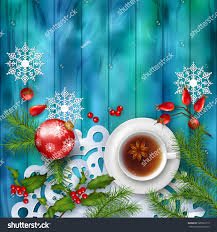christmas tea party background holiday top stock vector 508526110