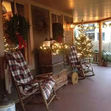 Country Decorations For Christmas Tree by Beautifully Decorated Christmas Porch Christmas Decorating