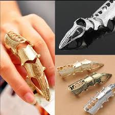 cool rings images European fashion cool silver spire finger joint rings gold bronze jpg