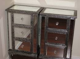 Silver Mirrored Nightstand Decorating Marvelous Mirrored Nightstand For Your Antique Decor