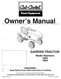 cub cadet lawn mower 1864 user guide manualsonline com