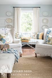 Slipcovers Made From Drop Cloths Wing Chair Drop Cloth Slipcovers Miss Mustard Seed