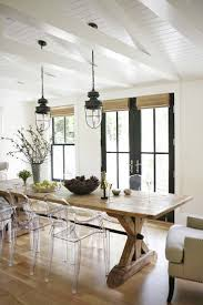 kitchen dining table lighting stone floor gray stools nice classic