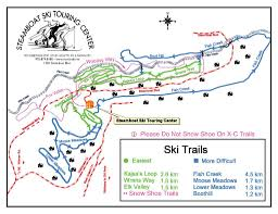 Steamboat Trail Map Steamboat Ski Touring Center Colorado Cross Country Skiing
