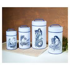metal canisters kitchen food safe mermaid kitchen canisters kitchen canisters kitchen