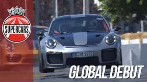 porsche gt2 rs world debut at fos youtube