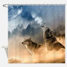 Wolf Curtains Wolf Shower Curtains Cafepress