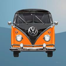 volkswagen bus art volkswagen type 2 black and orange volkswagen t 1 samba bus over