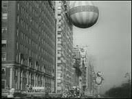 b w 1950 jump on large balloon in macy s thanksgiving day parade