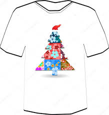 t shirt design template christmas tree wearing a cap flowers