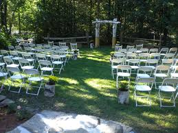 wedding aisle decor arbor arch planters birch backyard