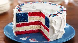 cake how to white and blue layered flag cake recipe bettycrocker