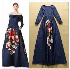 dress pesta mewah berkualitas tinggi busana runway desainer maxi dress lengan
