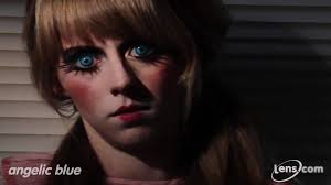 fast shipping halloween contacts angelic blue contact lenses at lens com youtube