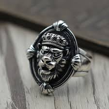 old rings silver images S925 vintage sterling silver jewelry ring silver lion personality jpg