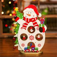 3d wooden santa claus snowman assembling crafts home