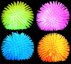 ball with light inside lightup spikey yo yo ball 1 dozen