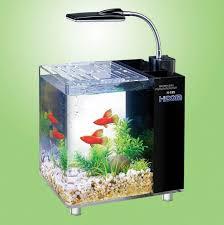 aquarium bureau hidom aquarium fish tank 10 and 15 litre mini office desktop light