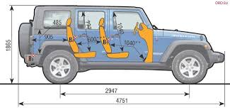jeep wrangler height interior dimensions of different 4x4 pictures expedition portal