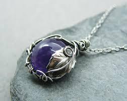 amethyst necklace pendant images Amethyst pendant etsy jpg